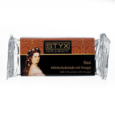 Sissi (BIO-Milchschokolade gefüllt mit 70% Nougat-Ganache) 70g