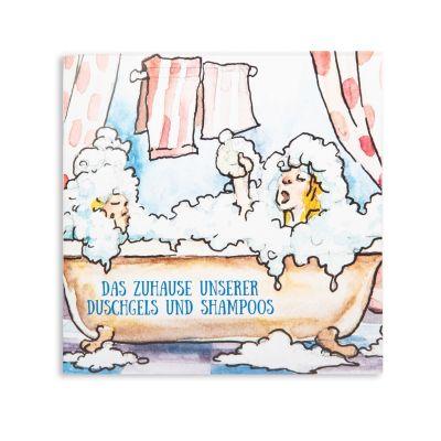 Kinderbuch Das Zuhause unserer Duschgels und Shampoos