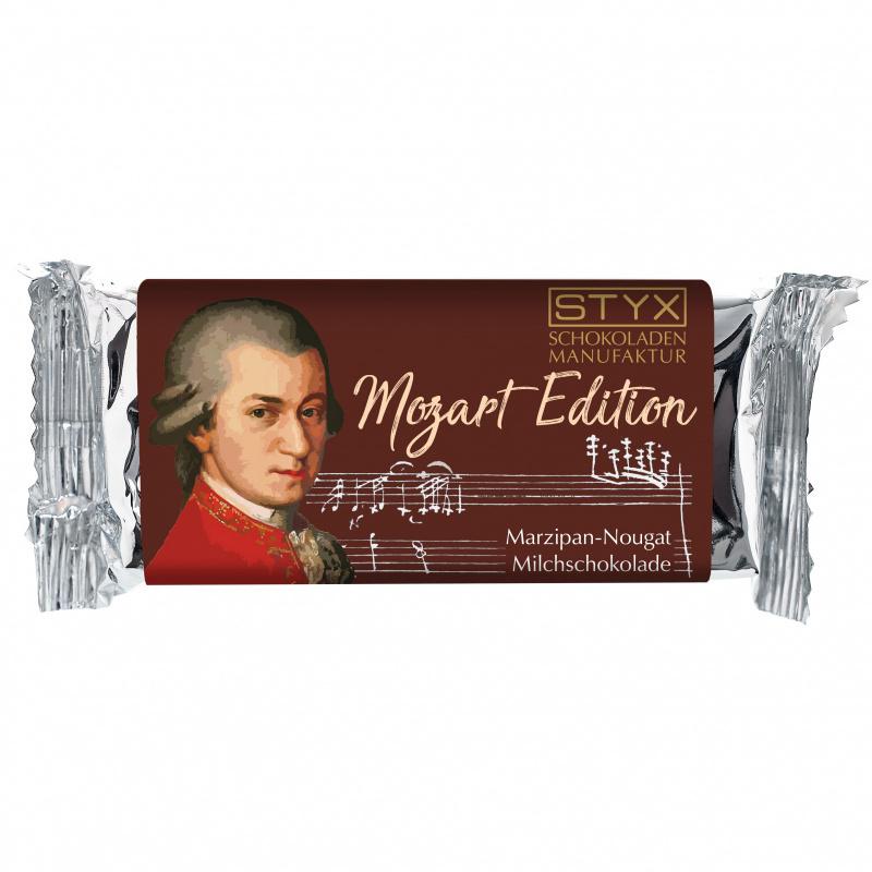 Mozart (BIO-Milchschokolade gefüllt mit 70% Marzipan-Nougat-Ganache) 70g