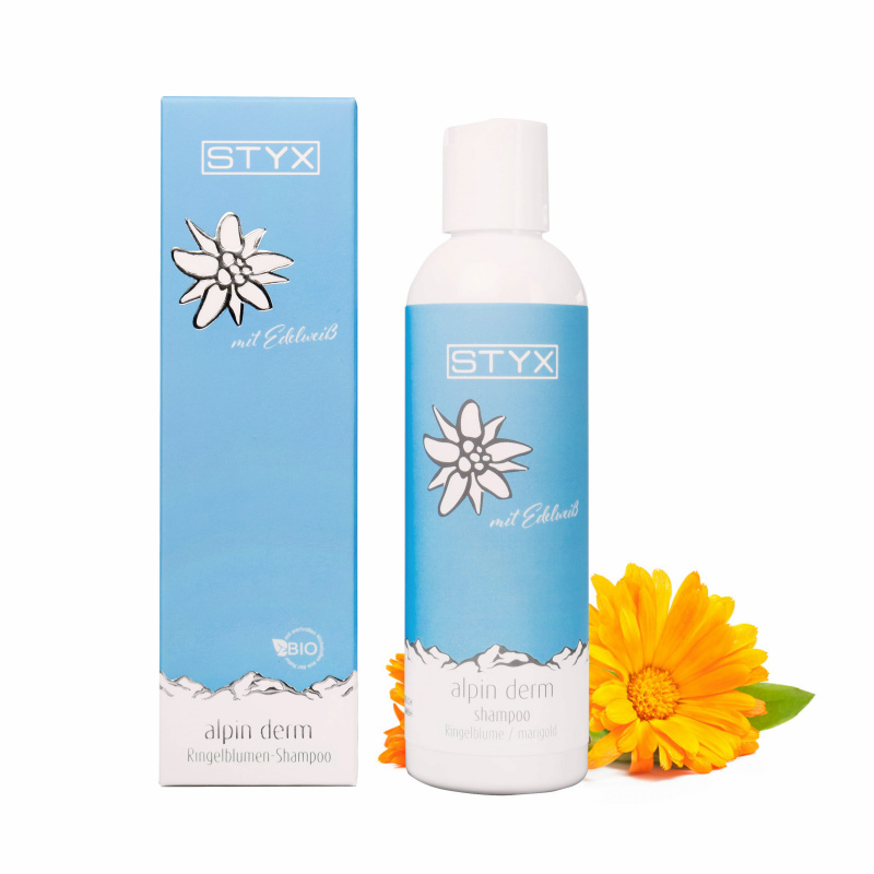 Alpin Derm Ringelblumen-Shampoo mit Edelweiß 200ml