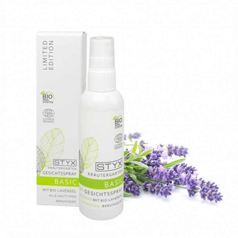 Kräutergarten BASIC Gesichtsspray mit Bio Lavendel 100ml