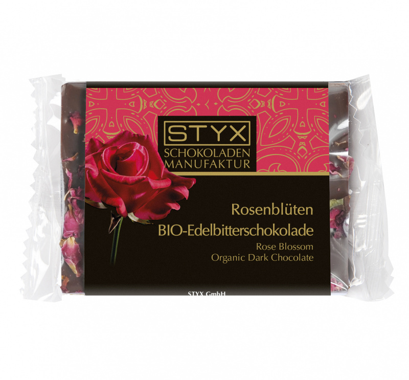Dark Chocolate with Rose Blossom 50g