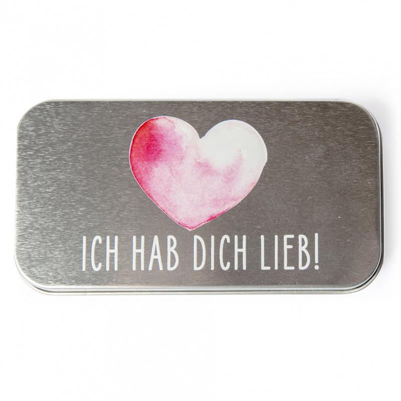 Metalletui für 70g Schokolade EISBÄR