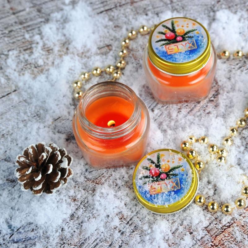 Kerze mit Marillenduft