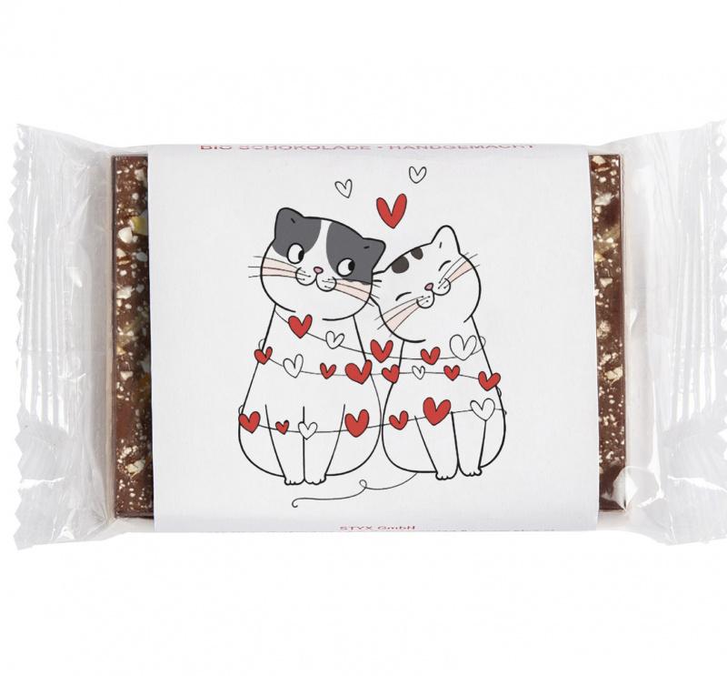 BIO Edelbitterschokolade mit Marillenkrokant