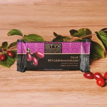 Dark Chocolate filled with Austrian Cornel Cherry and Cornel Brandy 70g