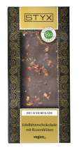 Dark Chocolate with Roseblossoms 100g