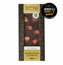 Dark Chocolate with Strawberries 100g