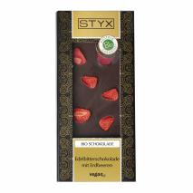 BIO Edelbitterschokolade mit Erdbeeren 100g