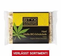 Bio Weisse Schokolade mit Hanfsamen 50g