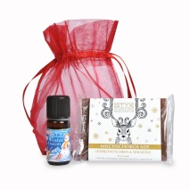winterdream set essential oil & Milk Chocolate with Walnutz and dried plums