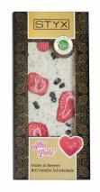 BIO Weisse Schokolade mit Mohn und Beeren