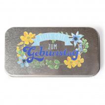 Metalletui für 70g Schokolade Alles Gute zum Geburtstag